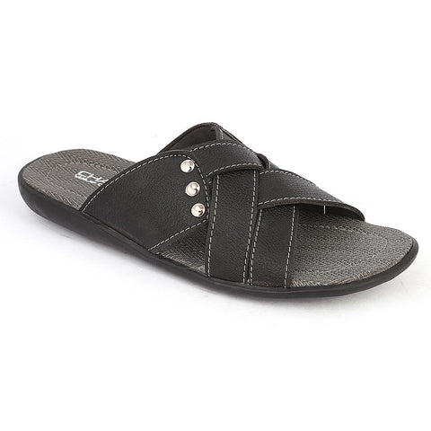 Men's Casual Slippers (A-103) - Black