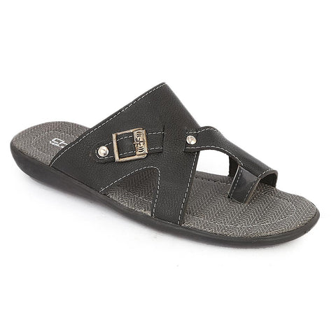 Men's Casual Slippers (A-104) - Black
