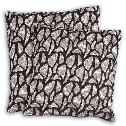 Floor Cushion Covers 2 Pcs Set - Black