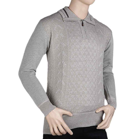 Men's Full Sleeves Sweater - Beige