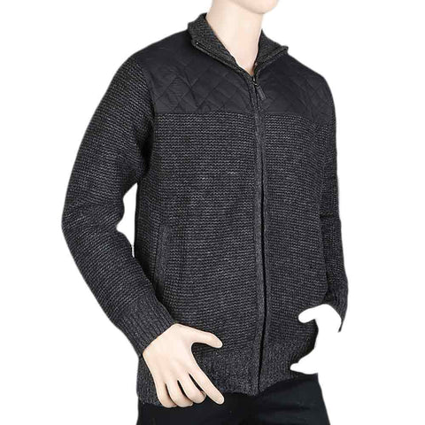 Men's Full Sleeves Zipper Upper - Black
