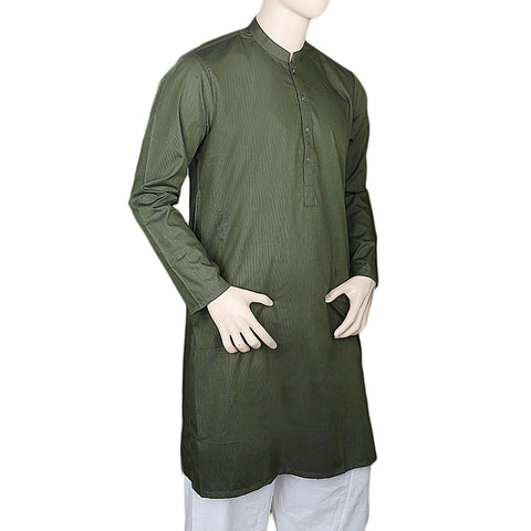 Eminent Trim Fit Kurta For Men - Dark Green