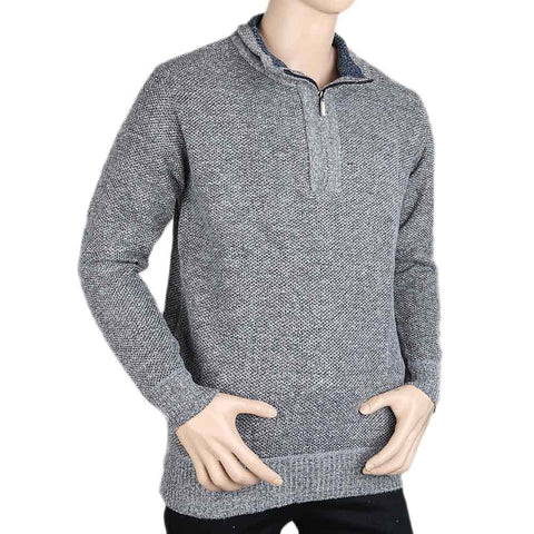 Men's Full Sleeves Sweater - Grey