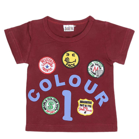 Newborn Boys T-Shirt - Maroon