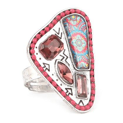 Women's Fancy Stone Ring - Pink - test-store-for-chase-value