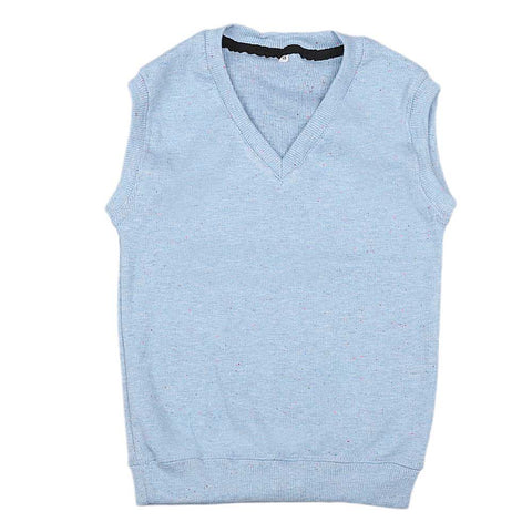 Boys Sleeveless Sweater - Light Blue