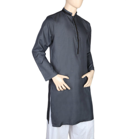Mashriq Fancy Kurta For Men - Dark Gray