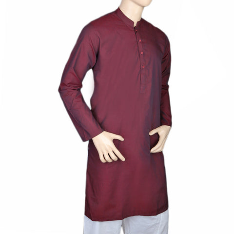 Eminent Trim Fit Kurta For Men - Maroon