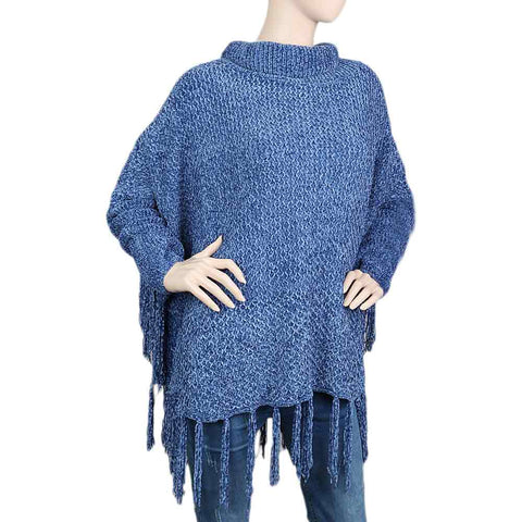 Eminent Poncho For Women - Blue