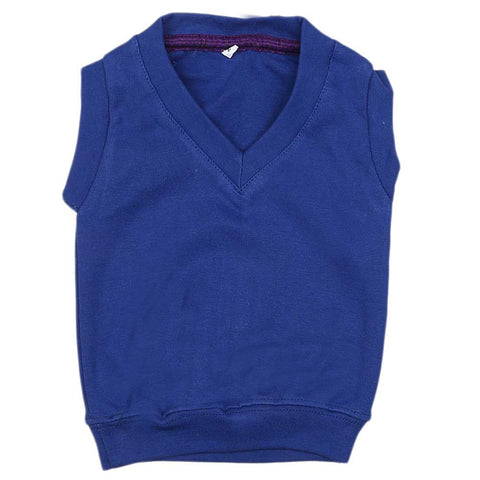 Newborn Boys Sleeveless Sweater - Blue