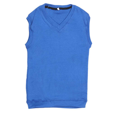 Boys Sleeveless Sweater - Royal Blue