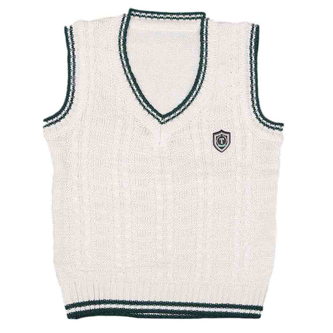 Boys Sleeveless Sweater - Fawn