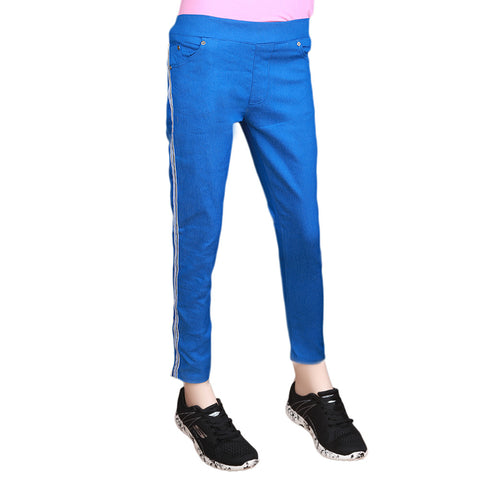 Women's Striped Jegging - Royal Blue