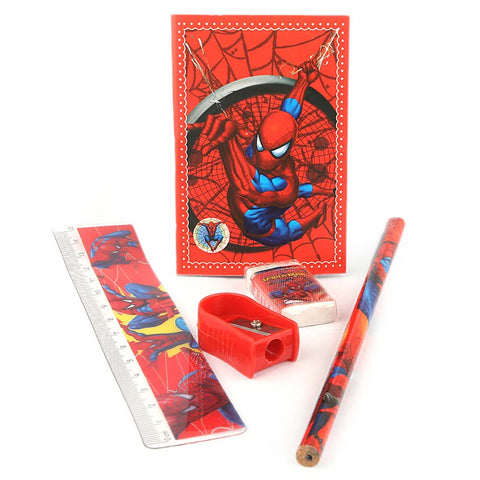 Spider Man Stationery Set 5 Pcs - Red