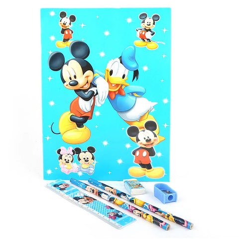 Mickey Mouse Stationery Set 5 Pcs - Blue