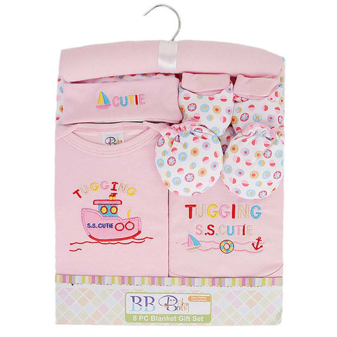 Newborn Baby Gift Suits (8 Pcs) - Pink