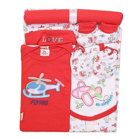 Newborn Baby Gift Suits (8 Pcs) - Red