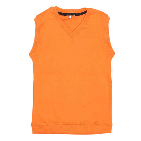 Boys Sleeveless Sweater - Orange