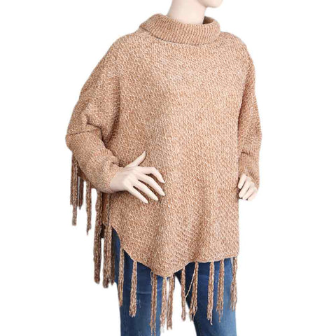 Eminent Poncho For Women - Beige
