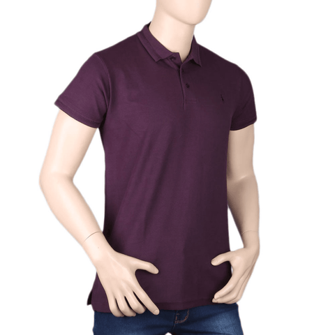 Men's Half Sleeves T-Shirt - Dark Purple