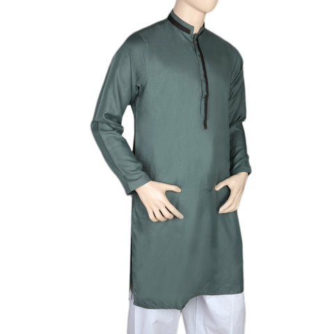 Mashriq Fancy Kurta For Men - Dark Green