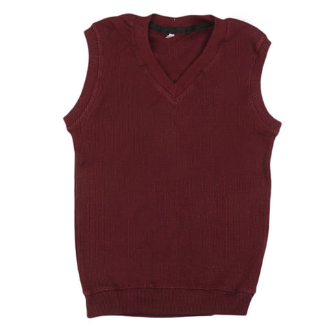 Boys Sleeveless Sweater - Dark Purple
