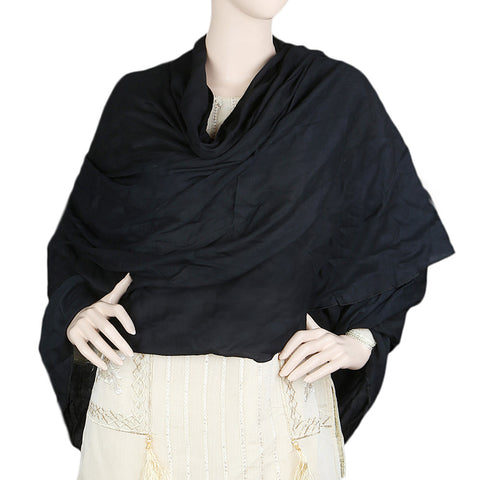 Women's Plain Irani Chadar - Black