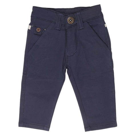 Newborn s Boys Cotton Pant - Blue