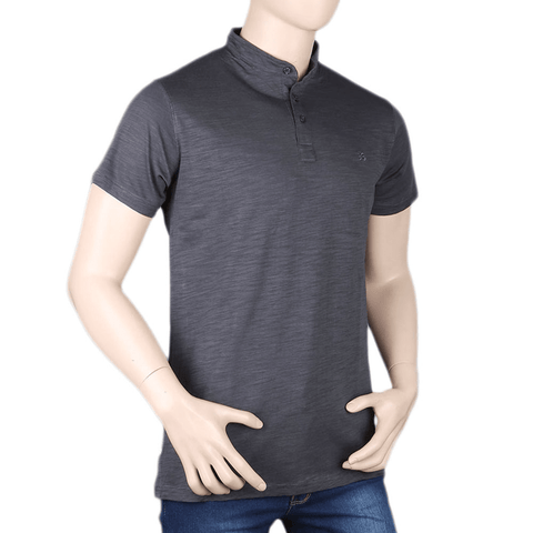 Men's Eminent Sherwani Collar T-Shirt - Grey