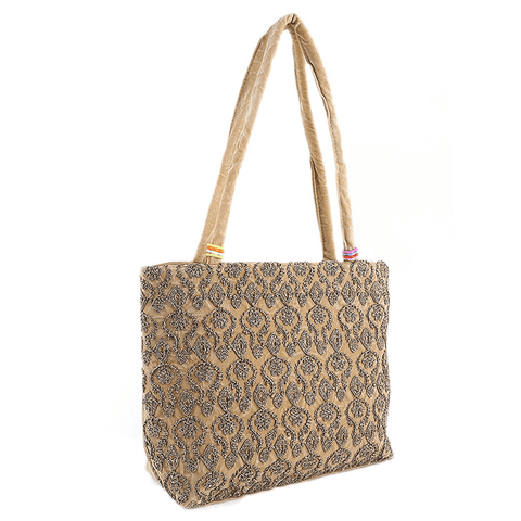 Women's Embroidery Handbag - Camel - test-store-for-chase-value
