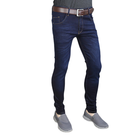 Men's Casual Denim Pant - Dark Blue