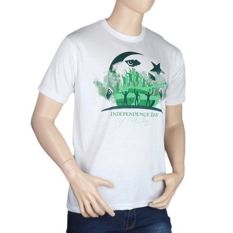 14th August T-Shirt For Men's - White - test-store-for-chase-value