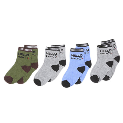 Boys Socks Pack Of 4 - Multi
