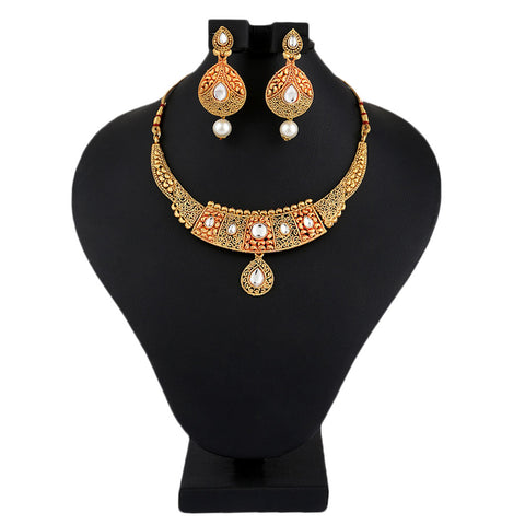 Women's Fancy Jewellery Set - Golden - test-store-for-chase-value