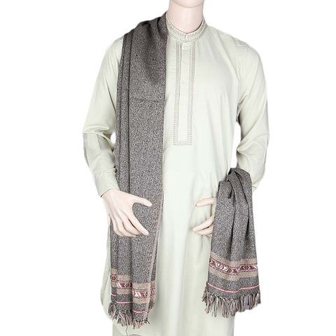 Men's Acrylic Shawl - Brown