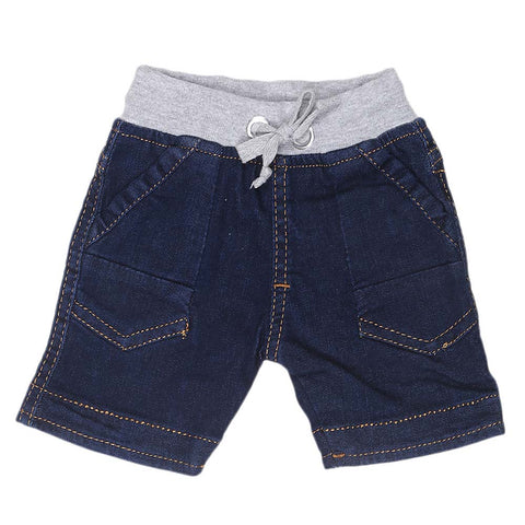 Newborn Boys Shorts - Dark Blue - test-store-for-chase-value