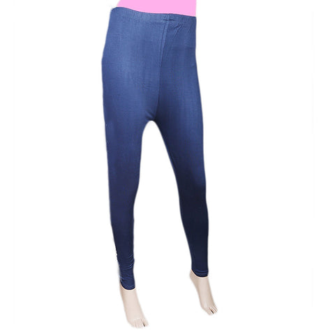 Women's Side Print Tight - Navy Blue