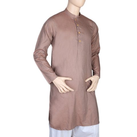Mashriq Slim Fit Kurta For Men - Copper