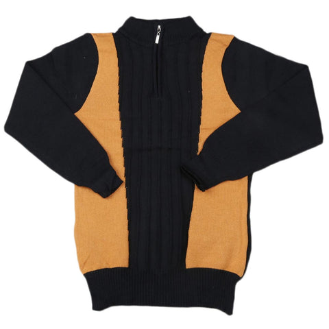 Boys Full Sleeves Sweater - Black
