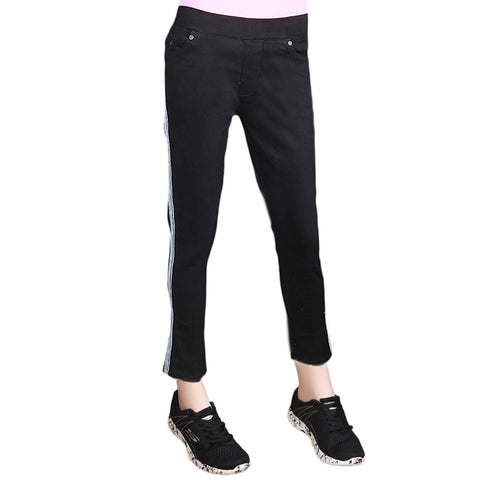 Women's Striped Jegging - Black