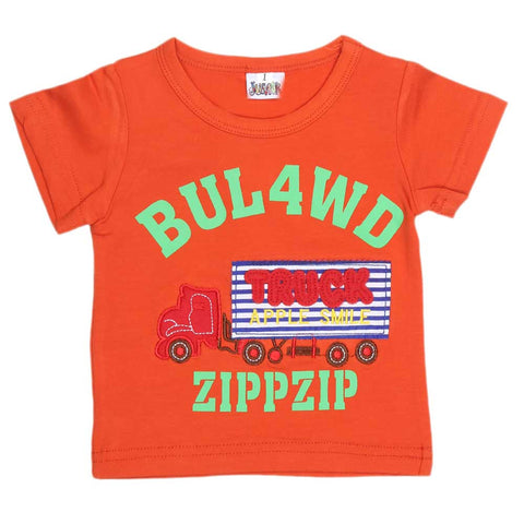 Newborn Boys T-Shirt - Orange