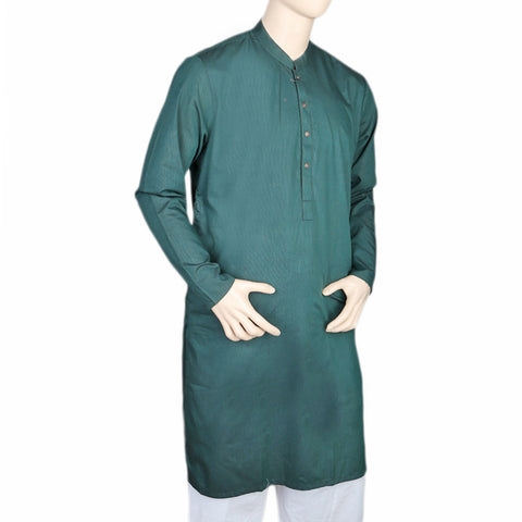 Eminent Trim Fit Kurta For Men - Steel Green