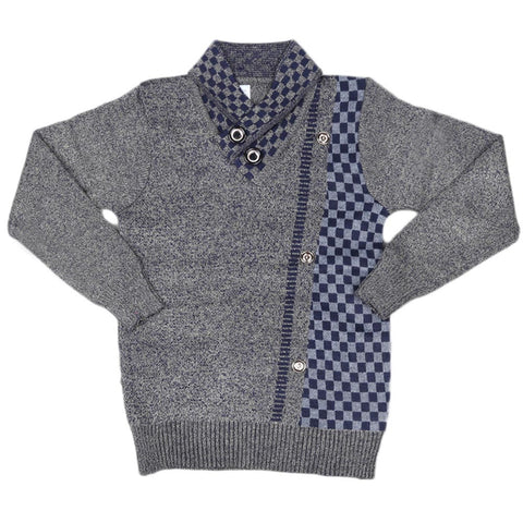 Boys Full Sleeves Sweater - Golden