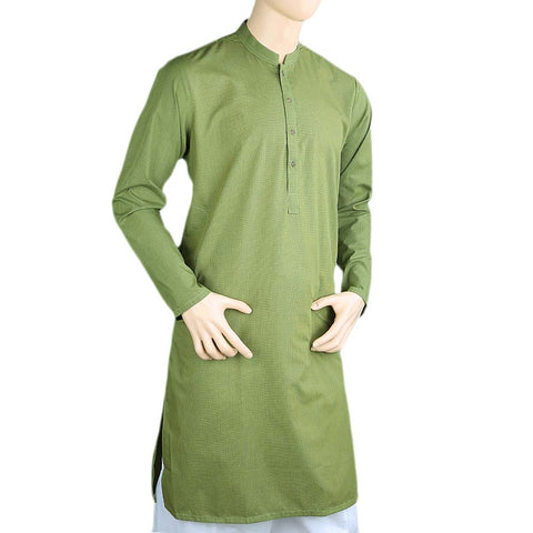 14th August Men's Eminent Kurta - Green - test-store-for-chase-value