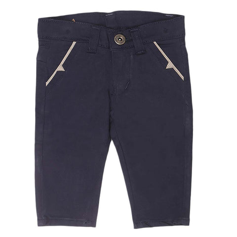 Newborn s Boys Cotton Pant - Navy Blue