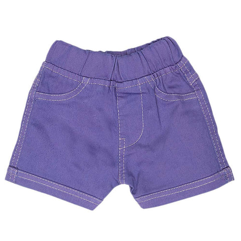 Newborn Girls Shorts (G-24) - Purple - test-store-for-chase-value