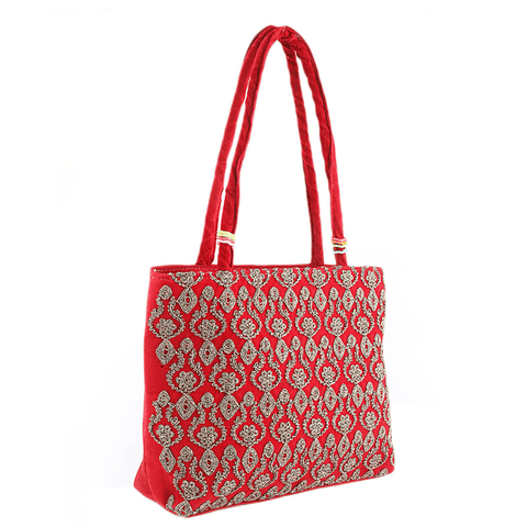 Women's Embroidery Handbag - Red - test-store-for-chase-value