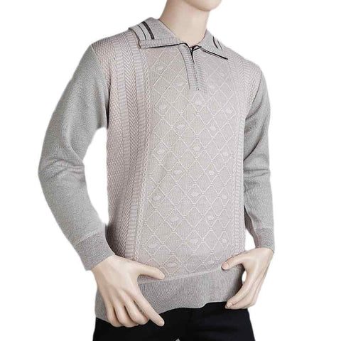 Men's Full Sleeves Sweater - Fawn