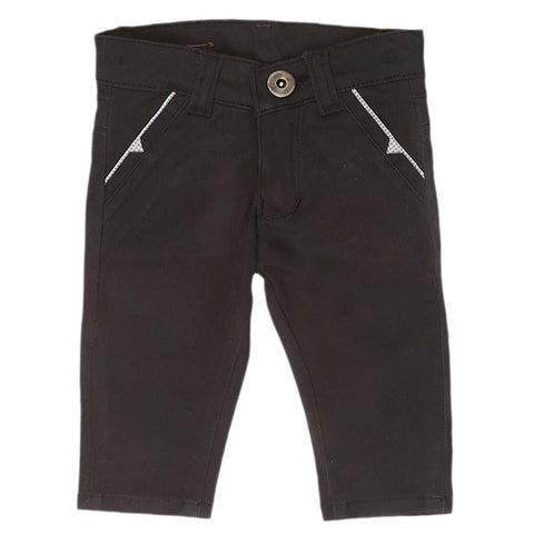 Newborn s Boys Cotton Pant - Black