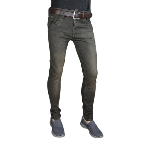 Men's Casual Denim Pant - Grey
